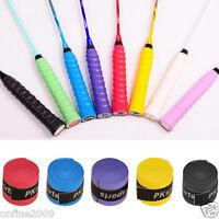 2X Stretchy Leather Racket Tennis Badminton Handle Grip Tape Non-slip Overgrip
