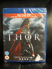 Thor 1 3D/2D Blu-Ray Marvel Region Free New Sealed Action Fantasy