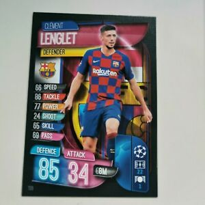 Match Attax 2019-20 Lenglet #133 Topps UEFA Barcelona Trading Card Free Postage