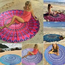 Boho Tapestry Large Wall Hanging Mandala Hippie Throw Beach Yoga Towel Mat Round