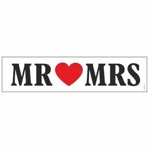 2 x White Wedding Number Plate MR and MRS -  Wedding Getaway Car