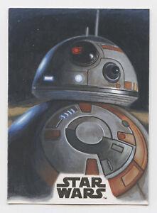 Star Wars Saga sketch card BB-8 by Kris Penix