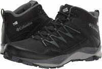 Columbia Men's Wayfinder Mid Outdry Boot, Waterproof &, Black, Steam, Size 11.5