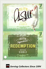 2009-10 Select Cricket Trading Cards Signature Redemption ES7 Peter Siddle