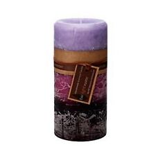 Scented Pillar Candle Candles Lavender Purple Handmade Rustic Home Decor 7x15cm