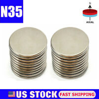 Lot Super Strong Round Disc 25mm x 2mm Magnets Rare Earth Neodymium N35 NEW