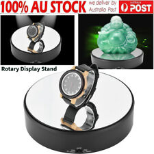 18cm 360 Rotating Rotary Mirror Glass Display Stand Turntable Jewelry Holder