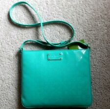 NWT Kate Spade Darby Metro Brightberl Green Patent Leather Crossbody Bag $168