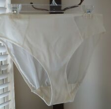 CACIQUE IVORY sheer backside stretch nylon HIGH LEG HIPSTER cheeky panties18/20