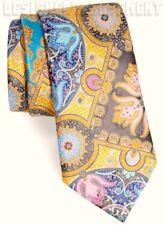 ERMENEGILDO ZEGNA Limited Edition QUINDICI golden HIBISCUS silk Tie NIB Authentc