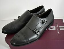 New BRUNO MAGLI ALFANZO Gray Leather DOUBLE-MONK Strap OXFORD Shoes US-13M