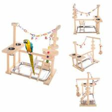 Parrot Playstand Bird Play Stand Cockatiel Playground Wood Perch Gym Playpen Lad
