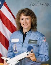 Christa McAuliffe-Repro-autógrafo 20x25 CM, Challenger Space Shuttle, sts-51-l