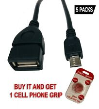 Micro USB 2.0 OTG Cable On The Go Adapter Male Micro USB to Female USB .5 PACKS