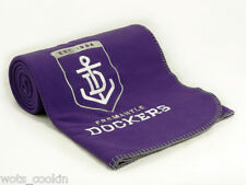AFL Fremantle Dockers Polar Fleece Throw Embroidered Logo Official AFL Product
