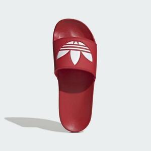 Adidas Adilette Lite Red Flip Flop Slide Sandals for Men Vegan Friendly