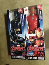 Marvel Iron Man & Black Panther Titan Hero Series Avengers (2) Pack 12 Inches Ta