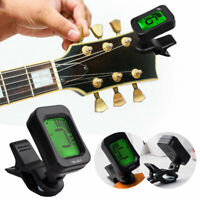 Chromatic Clip-on Guitar Tuner Electric Digital Display Bass, Violin & Ukulele