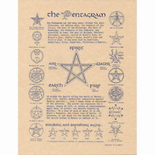 "The Pentagram Poster 8.5 x 11"" Parchment Print NEW Wicca Book of Shadows Page"