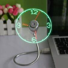 Durable Adjustable USB Gadget Mini Flexible LED Light USB Fan Time Clock Desktop