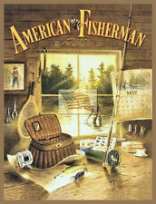REPRINT PICTURE of older fishing sign AMERICAN FISHERMAN outside window 5 3/8x7