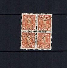 Canada: 1930, King George V definitive, 8c red-orange, used block x 4