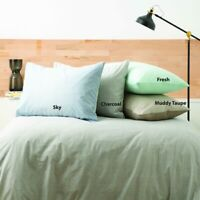 Park Avenue Paradis washed Chambray Quilt Cover set 4-Colours