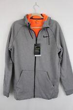 15b8d32c5d8b NWT NIKE THERMA SPHERE REPEL Full Zip Hooded Jacket 860511 Grey Orange Mens  2XL
