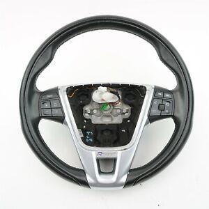 Volvo OEM R-Design Black Leather Steering Wheel 31315994 for S60 V60 XC60