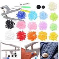 150 Bottoni a Pressione 15 Colori Bottoni Automatici Plastica Fasteners o Pinze
