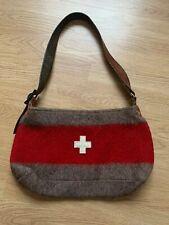 Karlen Swiss Tasche Handtasche Wolle Filz Leder Schweiz * wool felt leather bag