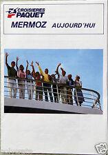 Publicité Ancienne Mermoz Journal Bord Croisières Paquet Calais 1986