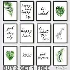 More details for living room quotes wall art print pictures lounge decor gift funny rude home