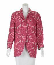 MARNI Embroidery Pink Knee Length Coat, UK 10 US 6 EU 38