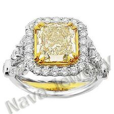 3.67 Ct. Canary Fancy Yellow Diamond Engagement Ring