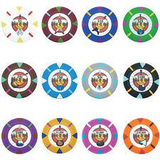 New Bulk Lot 1000 Rock & Roll 13.5g Clay Casino Poker Chips - Pick Chips!