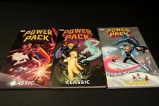 Power Pack Classic Vol 1-3 TPB LOT Marvel X-MEN Fantastic Four OOP RARE