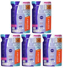 5 pcs NIVEA SUN Super Water Gel Sunscreen SPF50 PA+++ Refill 125g from Japan