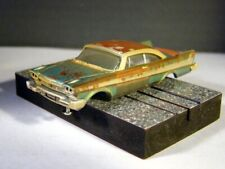 """58 Plymouth Fury """"Barn Find"""" - Brand New Auto World Ho T-jet Body - Mint/New! g"""