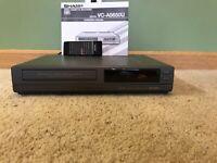 SHARP VC-A5650U VCR VHS Double Azimuth 4 Head Player Recorder W/ Remote & Manual