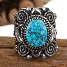 Gordon Natural Kingman Web 6.5 Navajo Turquoise Ring Sterling Silver Delbert