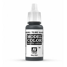 Vallejo Model Color: Black Grey - VAL70862 Acrylic Paint Bottle 17ml 168