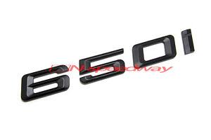 Matte Black Trunk Lid Letters Emblem Stickers For BMW F12 F13 F06 6-Series 650i