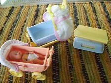 Barbie Simba nursery set -scale, carriage and cradle