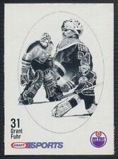 1986-87 Kraft Sports Hockey Card Grant Fuhr (Rare Blueback version)