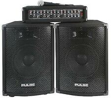 Pulse PMH200KIT Plus Mixer Amplifier With 2 Speakers 1 Mic PA System