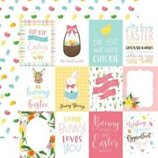 "Echo Park I Love Easter - 3x4 JOURNALING CARDS 12x12"" d/sided scrapbooking paper"