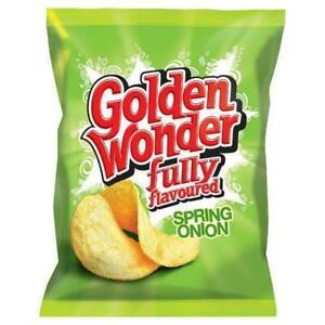 Golden Wonder Spring Onion Crisps 32.5g 32 Pack