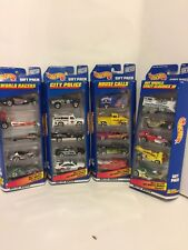 1998 Hot Wheels Gift Pack Crazy Classics, City Police, World Racers, House Calls