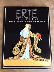 ERTE At Ninety-Five The Complete New Graphics 1987 1st Edition Art Deco Book